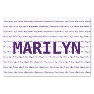 ハッピーバースデー! 一流のテンプレートの紫色 薄葉紙