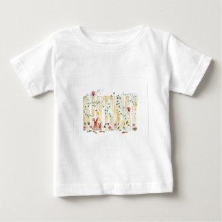 ハッピーバースデー-妖精の森林 ベビーTシャツ