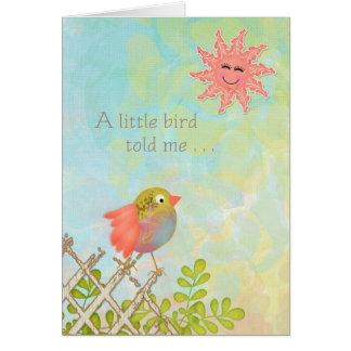 ハッピーバースデー-小さい鳥は私に告げました カード