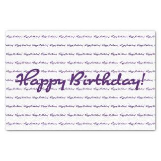 ハッピーバースデー! 暗い紫色のカジュアルな原稿 薄葉紙