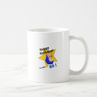 ハッピーバースデー-私は80.pngだけです コーヒーマグカップ