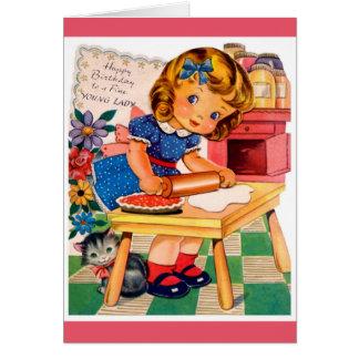 ハッピーバースデー-素晴らしい若い女性 カード