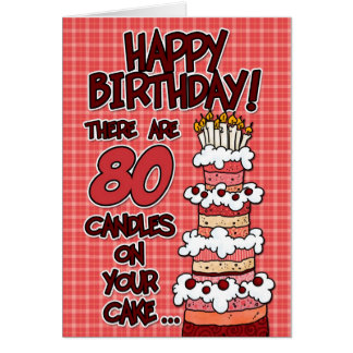 ハッピーバースデー- 80歳 カード