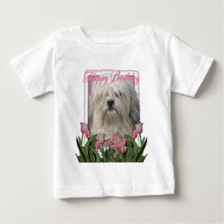 ハッピーバースデー- Lowchen ベビーTシャツ