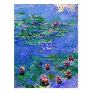 ハッピーバースデー: Monetのスイレン ポストカード