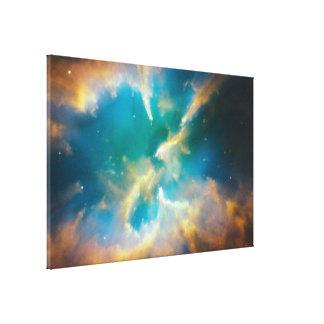 ハッブルは素晴しい惑星状星雲を止めます キャンバスプリント