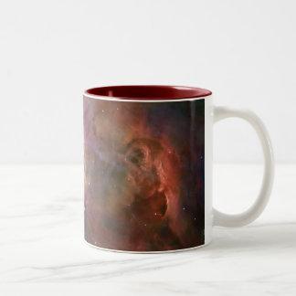ハッブル/オリオンの星雲 ツートーンマグカップ