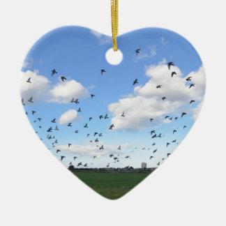 ハトの群 セラミックオーナメント