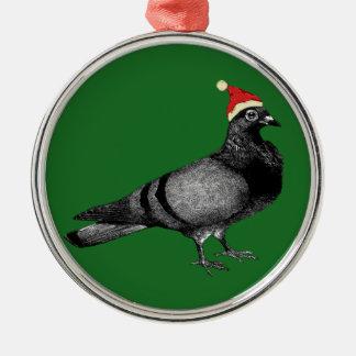 ハトクリスマス メタルオーナメント