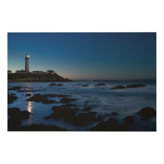 ハトポイント灯台|ハーフムーンベイ、カリフォルニア ウッドウォールアート