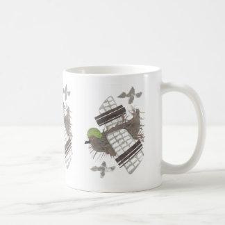 ハト平らなマグ コーヒーマグカップ