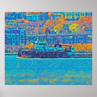 ハドソンのタグボート ポスター