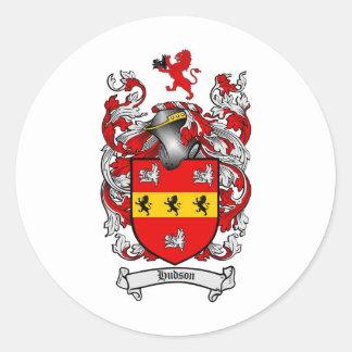 ハドソンの家紋-ハドソンの紋章付き外衣 ラウンドシール
