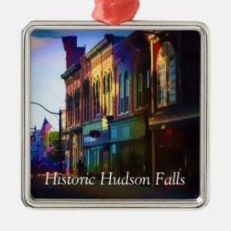 ハドソンの歴史的な滝 メタルオーナメント