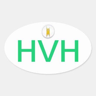 ハドソンの谷のヒューマニストのバンパーステッカー 楕円形シール