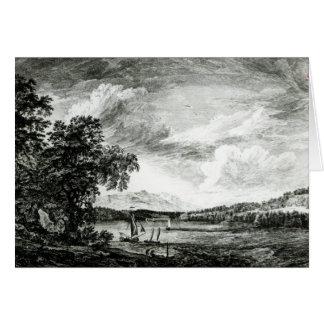 ハドソンのPakepseyの川の眺め カード