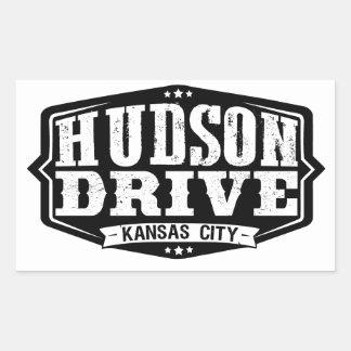 ハドソンドライブステッカー 長方形シール