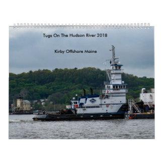 ハドソン川の引っ張り---沖合いのKirby 2018年 カレンダー