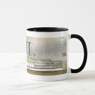 ハドソン川の汽船1877のしおり マグカップ