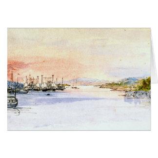ハドソン川アルバニーニューヨーク1846年 カード