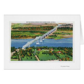 ハドソン川上のリップ・ヴァン・ウィンクル橋 カード