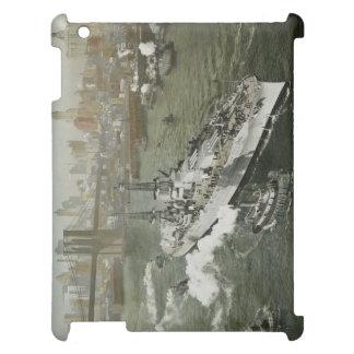 ハドソン川NYCのヴィンテージのWWIIの戦艦 iPad CASE