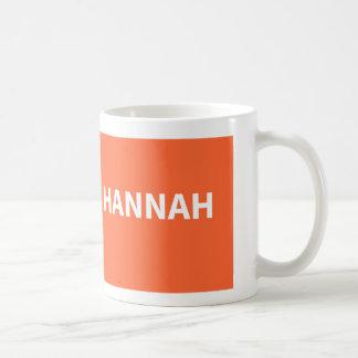 ハナのオレンジ名前 コーヒーマグカップ