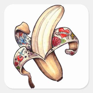 ハナのバナナのステッカー! スクエアシール