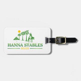 ハナの馬小屋の荷物のラベル ラゲッジタグ
