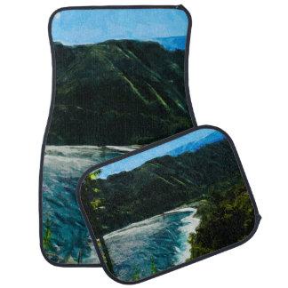 ハナマウイハワイの抽象芸術への道の湾 カーマット