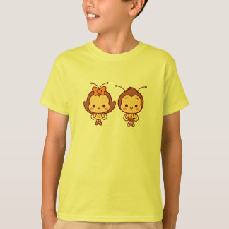 ハナ及びHachiの子供のワイシャツ Tシャツ