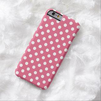 ハニーサックルのピンクの水玉模様のiPhone6ケース Barely There iPhone 6 ケース