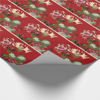 ハニーサックルの花のヴィンテージの花の包装紙 ラッピングペーパー