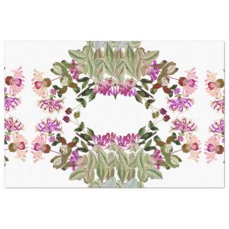 ハニーサックルの花の花のリースのティッシュペーパー 薄葉紙