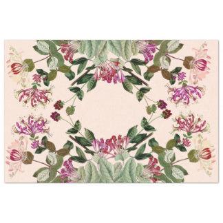 ハニーサックルの花の花柄のティッシュペーパー 薄葉紙