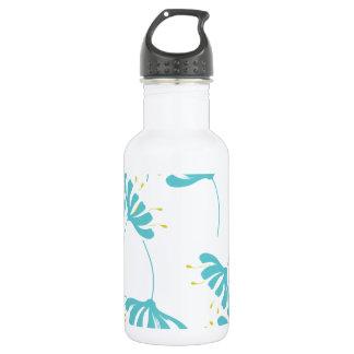 ハニーサックルの花柄パターン ウォーターボトル