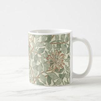 ハニーサックルの花模様の壁紙ウィリアム・モリス コーヒーマグカップ