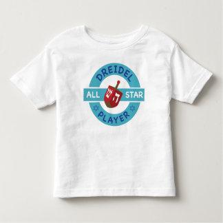 ハヌカーすべての星DreidelのTシャツ トドラーTシャツ