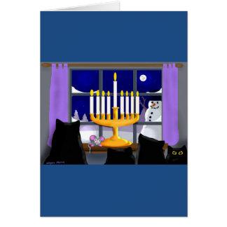 ハヌカーのクリスマスカード カード