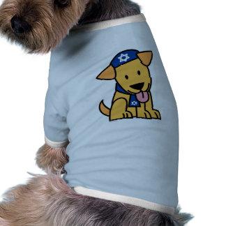 ハヌカーのユダヤ人のラブラドル・レトリーバー犬の小犬 ペット服