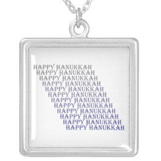 ハヌカーの幸せな青い銀製のネックレス シルバープレートネックレス