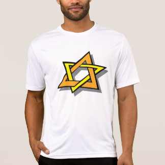 ハヌカーの星メンズ能動態のティー Tシャツ