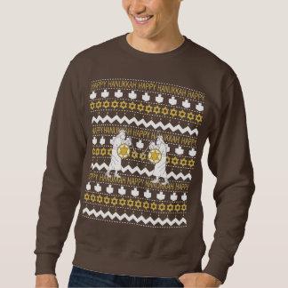 """ハヌカーの男性""""醜いセーター""""のスエットシャツ スウェットシャツ"""
