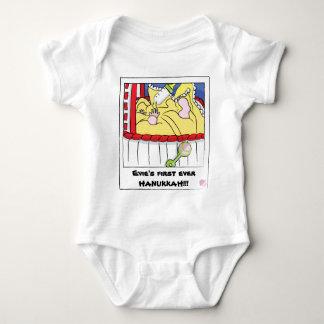 ハヌカーの赤ん坊のジャージーの体のスーツ ベビーボディスーツ