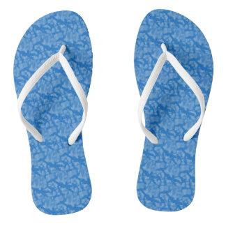 ハヌカーの青い足の物 ビーチサンダル