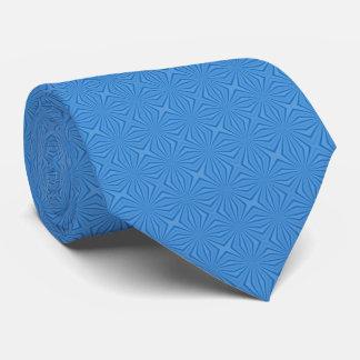 ハヌカーの青いSquiggly正方形 ネクタイ