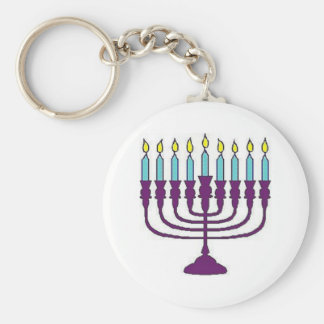 ハヌカーの(ユダヤ教)メノラー キーホルダー