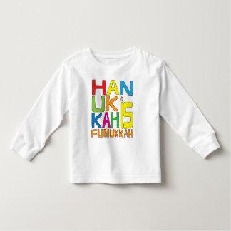 ハヌカーはFunukkahの幼児のTシャツです トドラーTシャツ