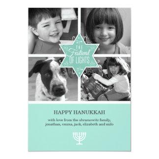 ハヌカーカード装飾的なタイポグラフィのダビデの星 カード