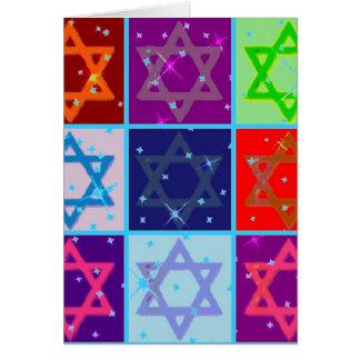 ハヌカー(ユダヤ教の祭り)の挨拶状Wの一致の郵便料金 グリーティングカード